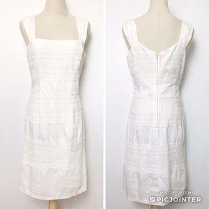 Lilly Pulitzer White Eyelet Midi Length Dress sz 8